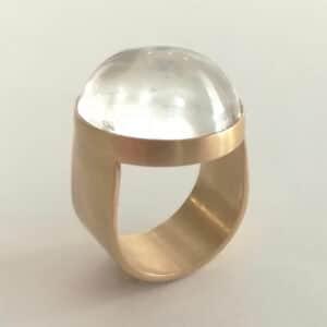UNI10 Globe bergkristal ring